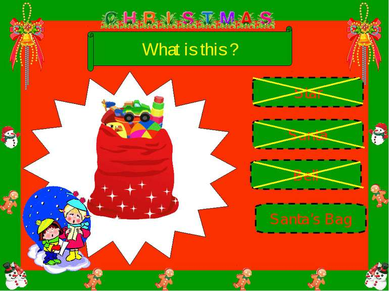What is this ? Bell Santa Santa's Bag Star