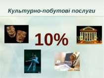 Культурно-побутові послуги 10%