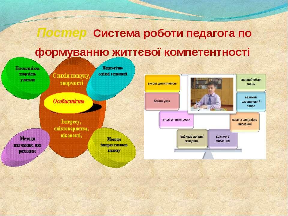 Постер Система роботи педагога по формуванню життєвої компетентності