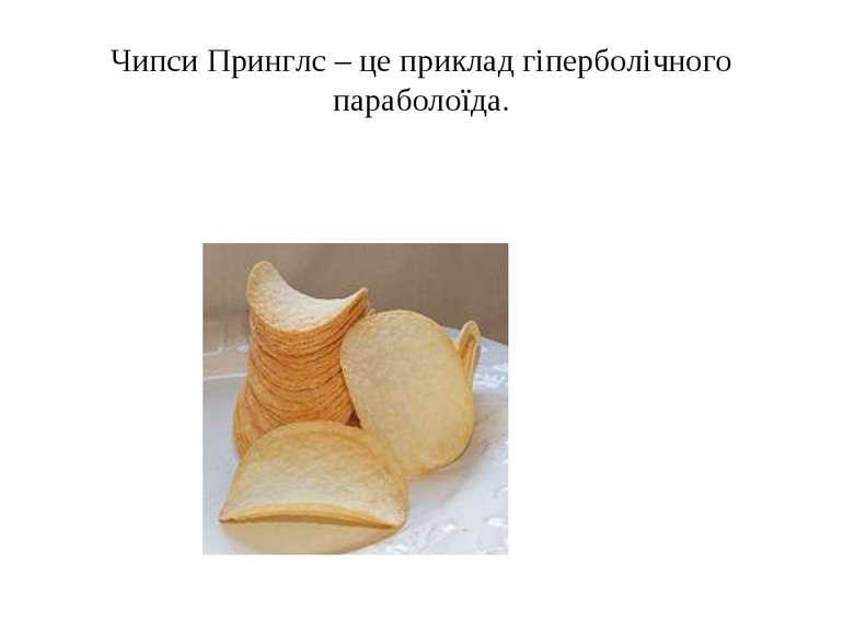Чипси Принглс – це приклад гіперболічного параболоїда.