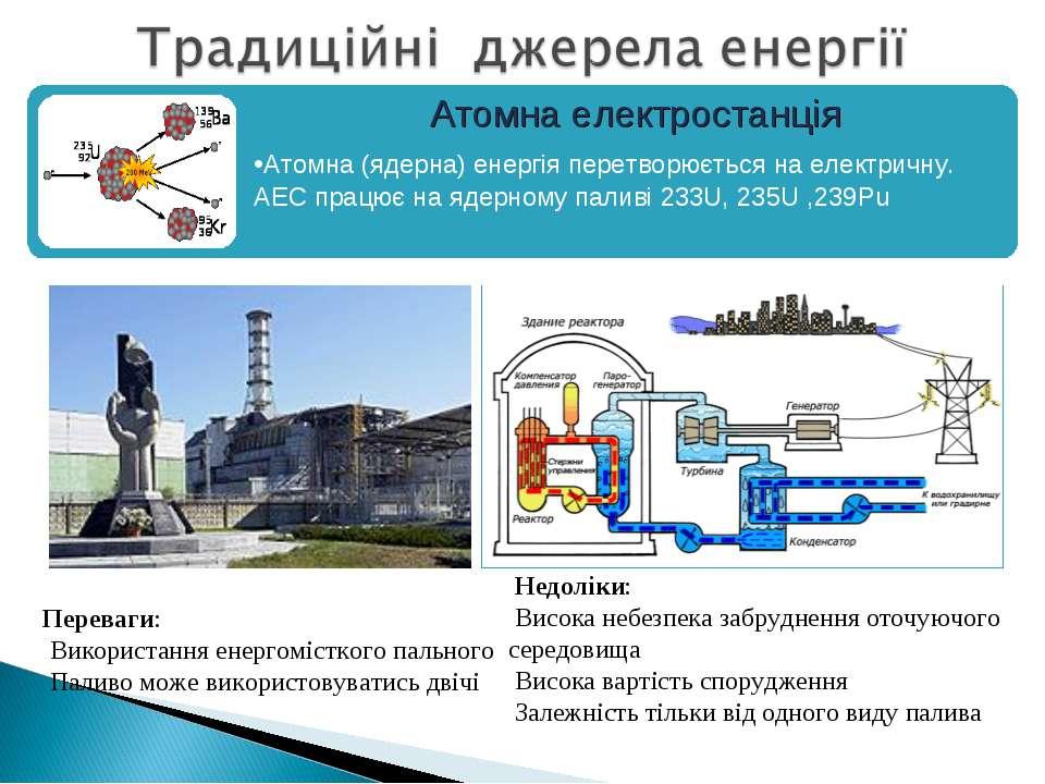 Переваги: Використання енергомісткого пального Паливо може використовуватись ...