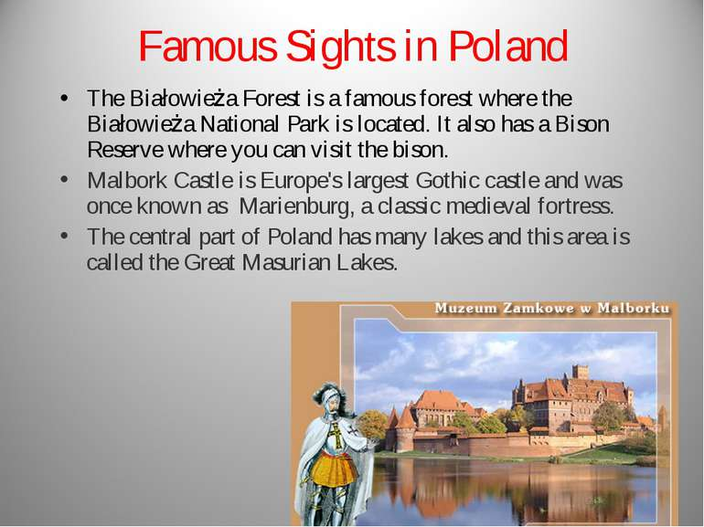 Famous Sights in Poland The Białowieża Forest is a famous forest where the Bi...