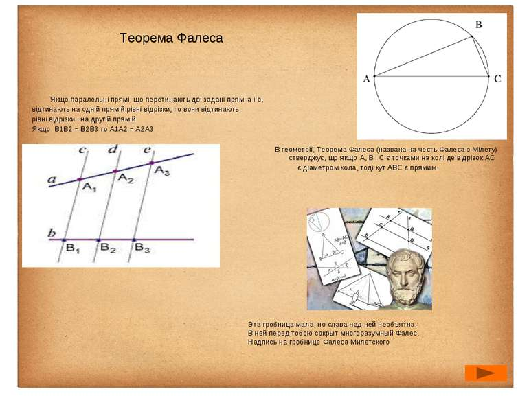 Якщо паралельні прямі, що перетинають дві задані прямі а і b, відтинають на о...