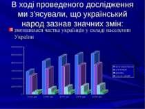 В ході проведеного дослідження ми з'ясували, що український народ зазнав знач...