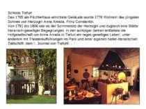 Schloss Tiefurt Das 1765 als Pächterhaus errichtete Gebäude wurde 1776 Wohnor...