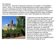 Die Wartburg Die Wartburg - nahe dem thüringischen Eisenach und umgeben von b...