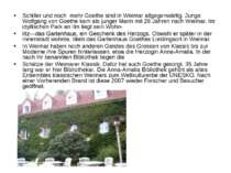 Schiller und noch mehr Goethe sind in Weimar allgegenwärtig. Junge Wolfgang v...