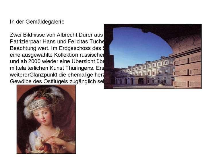 In der Gemäldegalerie Zwei Bildnisse von Albrecht Dürer aus dem Jahre 1499, d...