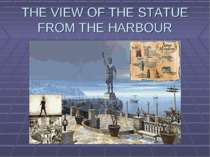 THE VIEW OF THE STATUE FROM THE HARBOUR