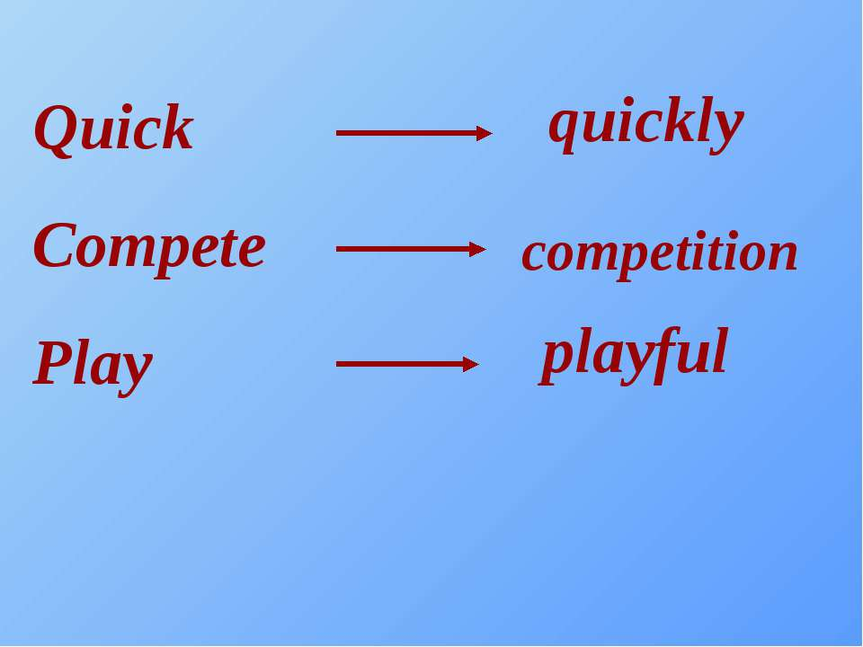 Quick Compete Play quickly competition playful