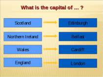 What is the capital of … ? Scotland Northern Ireland Wales England Edinburgh ...