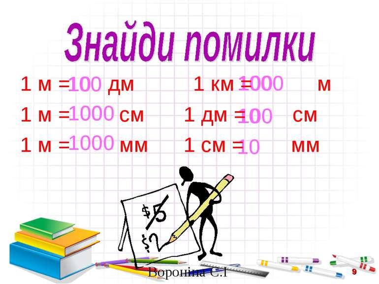 10 100 1000 1000 100 100 1000 10 100 10 1 м = дм 1 км = м 1 м = см 1 дм = см ...