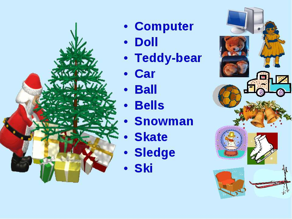 Computer Doll Teddy-bear Car Ball Bells Snowman Skate Sledge Ski
