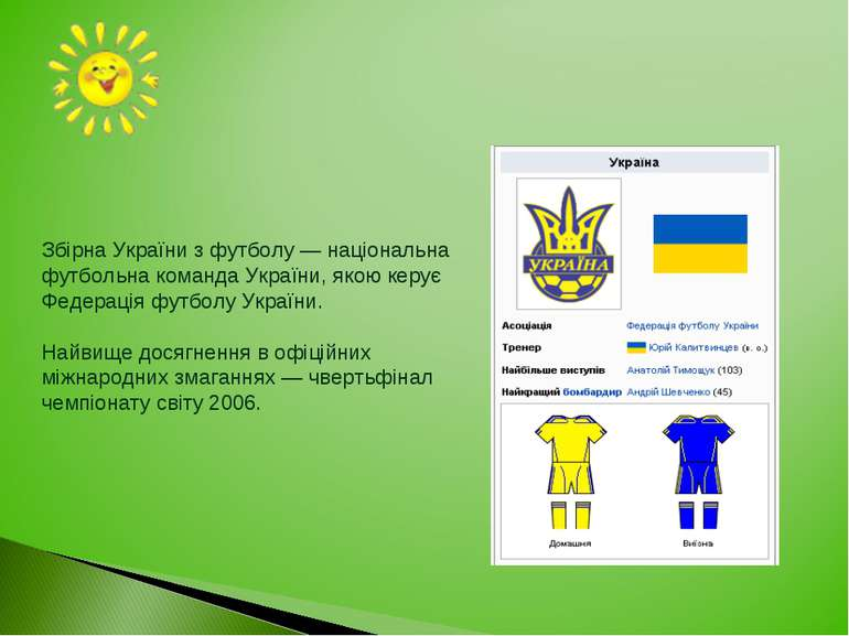 Збірна України з футболу — національна футбольна команда України, якою керує ...