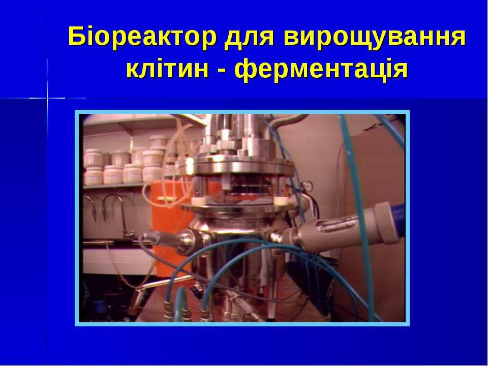 Біореактор для вирощування клітин - ферментація