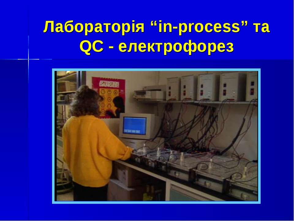 """Лабораторія """"in-process"""" та QC - електрофорез"""