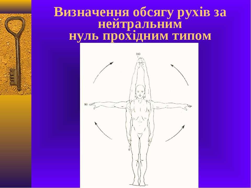 Визначення обсягу рухів за нейтральним нуль прохідним типом