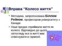 """Вправа """"Колесо життя"""" Методика, запропонована Біллом Рейном, професором уніве..."""