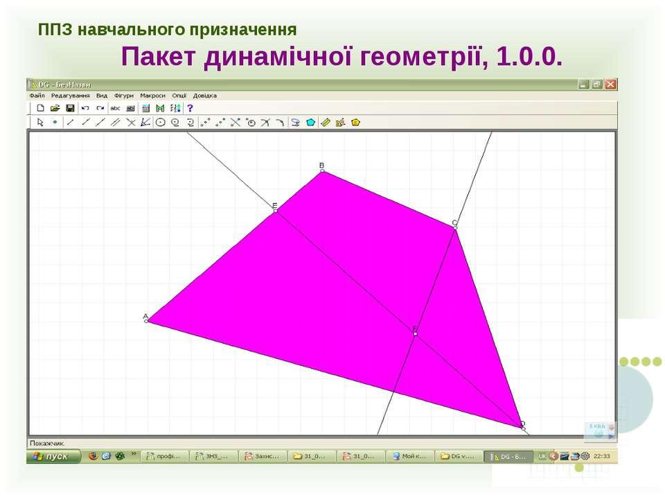ППЗ навчального призначення Пакет динамічної геометрії, 1.0.0.
