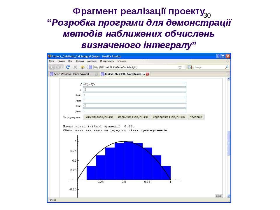 """Фрагмент реалізації проекту """"Розробка програми для демонстрації методів набли..."""