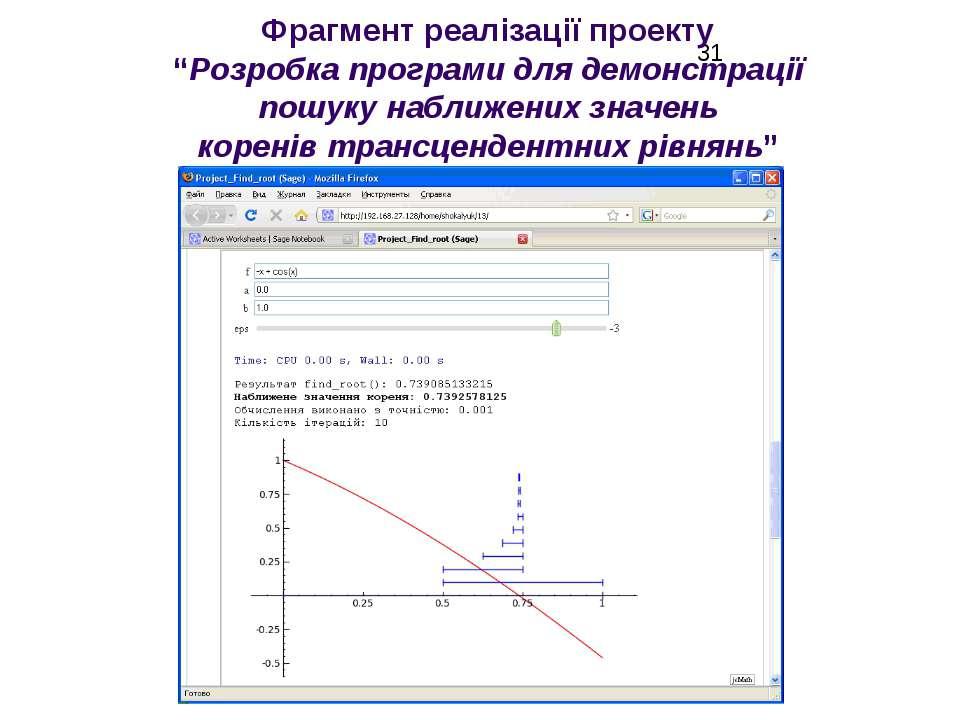 """Фрагмент реалізації проекту """"Розробка програми для демонстрації пошуку наближ..."""