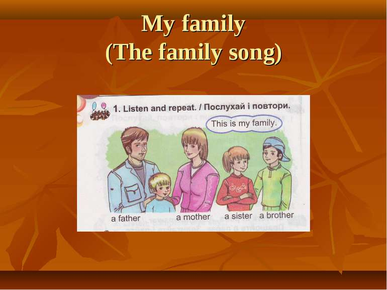 My family (The family song)