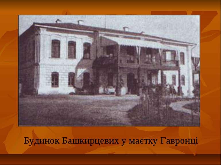 Будинок Башкирцевих у маєтку Гавронці