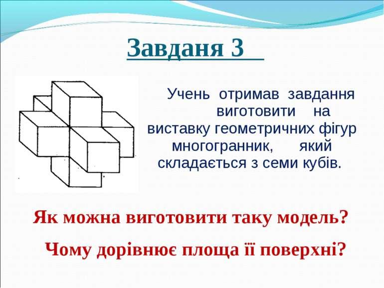 Завданя 3 Учень отримав завдання виготовити на виставку геометричних фігур мн...