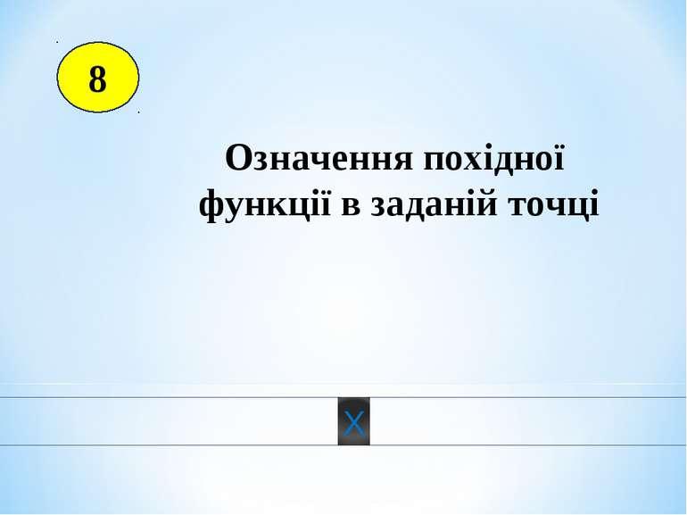 8 Означення похідної функції в заданій точці