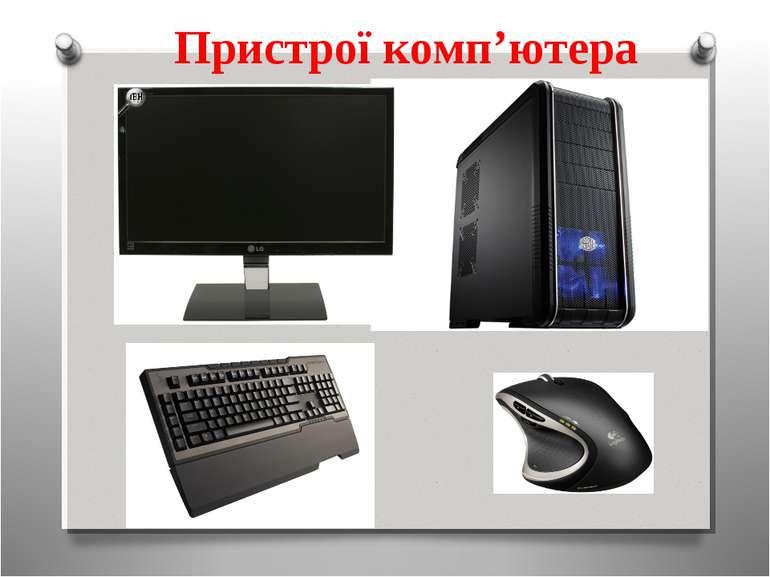 Пристрої комп'ютера
