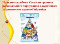 Практична робота. Скласти правила раціонального харчування в картинках за доп...