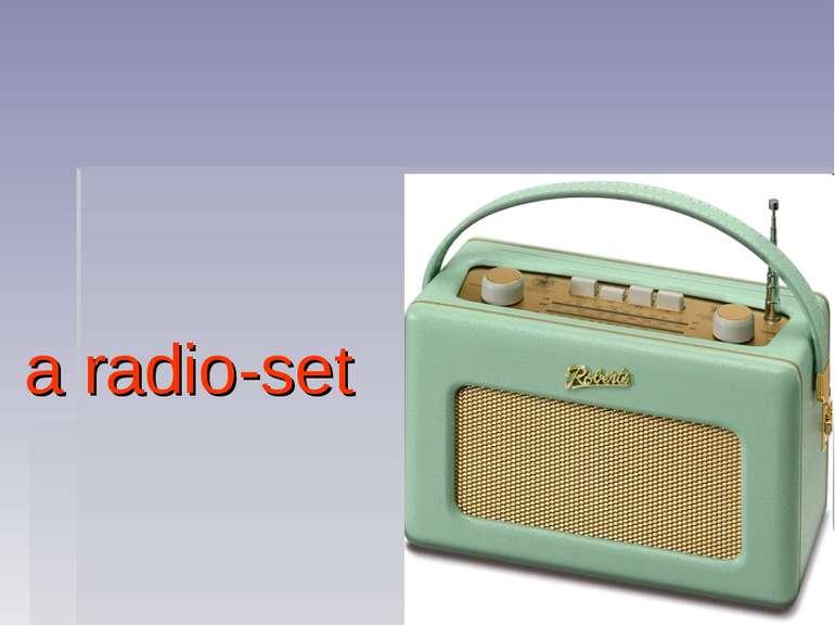 a radio-set