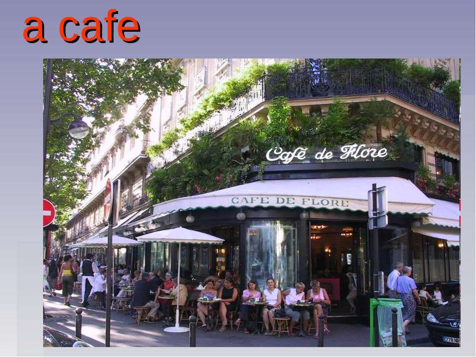 a cafe