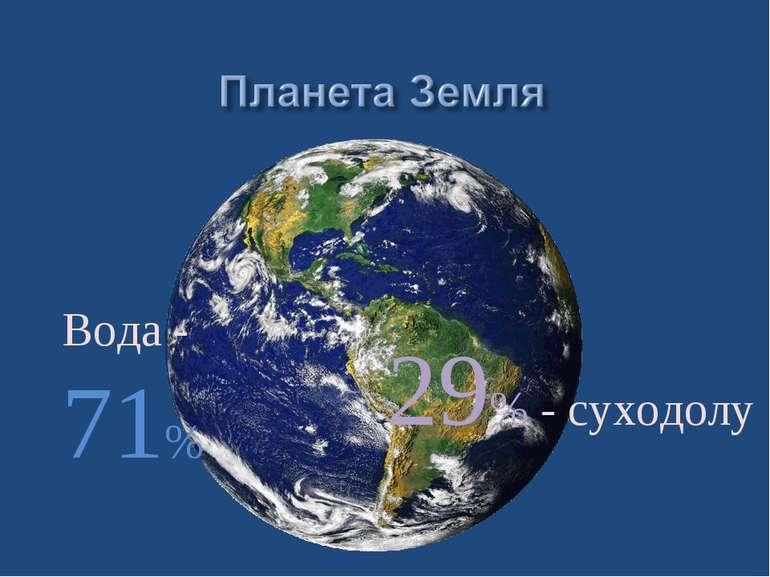 Вода - 71% 29% - суходолу
