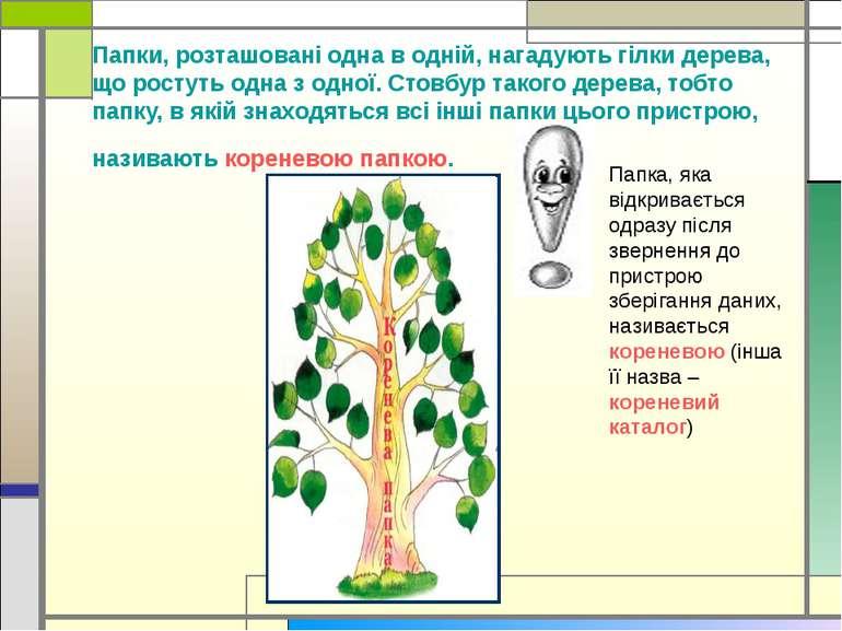 Папки, розташовані одна в одній, нагадують гілки дерева, що ростуть одна з од...