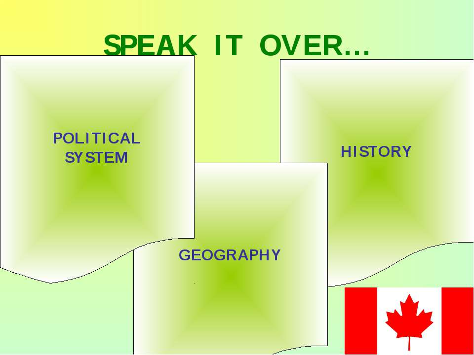SPEAK IT OVER… HISTORY GEOGRAPHY POLITICAL SYSTEM