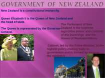 New Zealand is a constitutional monarchy. Queen Elizabeth II is the Queen of ...