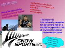 Rugby union, cricket, bowls, netball, soccer, motorsports, golf, swimming and...