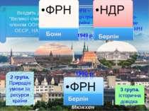 Мюнхен 1 група. Економіко-географічне положення ФРН 3 група. Історична довідк...