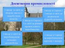Вольфсбург 1 місце в світі за збором хмелю і видобутком лігнітів. 1місце в Єв...