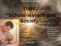 "Topic: ""School-leavers and Society"""