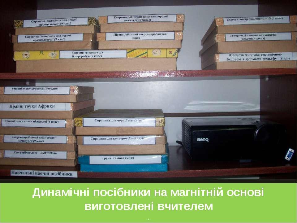 Динамічні посібники на магнітній основі виготовлені вчителем .