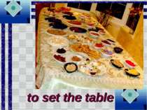 to set the table