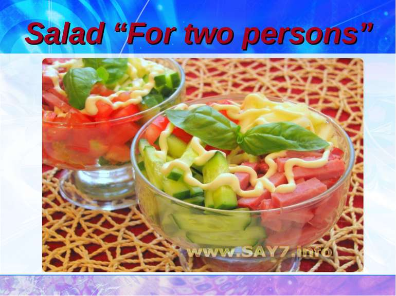 "Salad ""For two persons"""