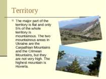 Territory The major part of the territory is flat and only 5% of the whole te...