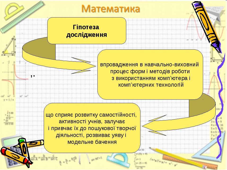 ,. Гіпотеза дослідження впровадження в навчально-виховний процес форм і метод...