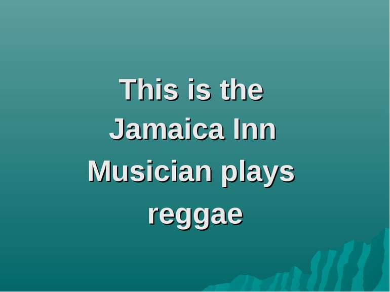 This is the Jamaica Inn Musician plays reggae