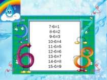 7-6=1 8-6=2 9-6=3 10-6=4 11-6=5 12-6=6 13-6=7 14-6=8 15-6=9