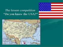 "The lesson-competition ""Do you know the USA?"""