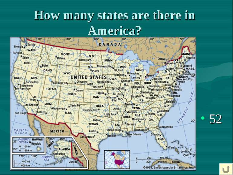 How many states are there in America? 52